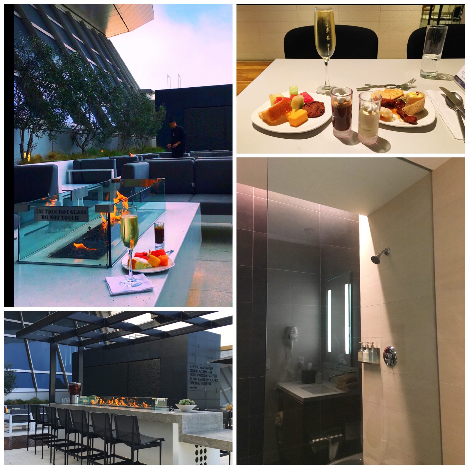 LAX Star Alliance Lounge: One of my favorite lounges in the world with the incredible outdoor space and the attentive staff that made sure my champagne glass never went empty. I also like the option to shower especially when long international flights are involved